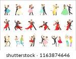 professional dancer couple... | Shutterstock .eps vector #1163874646