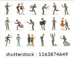 burglars  muggers and thieves... | Shutterstock .eps vector #1163874649
