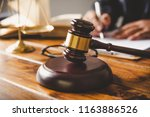 law theme  mallet of the judge  ... | Shutterstock . vector #1163886526