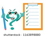 the funny question mark...   Shutterstock .eps vector #1163898880