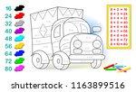 worksheet with exercises for... | Shutterstock .eps vector #1163899516