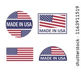 made in usa set on a white... | Shutterstock .eps vector #1163911519