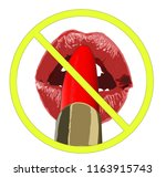 no make up sign. woman's girl... | Shutterstock .eps vector #1163915743