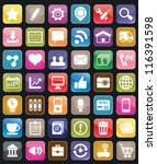 set of social media buttons for ... | Shutterstock .eps vector #116391598