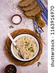 traditional millet porridge... | Shutterstock . vector #1163916970