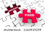 broken vs fixed problem solving ... | Shutterstock . vector #1163919259