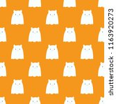 happy halloween pattern with... | Shutterstock .eps vector #1163920273