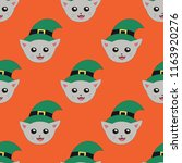happy halloween pattern with... | Shutterstock .eps vector #1163920276