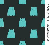 pattern with ghost. happy... | Shutterstock .eps vector #1163920279
