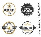christmas vector logo for... | Shutterstock .eps vector #1163926630