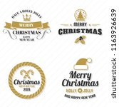 christmas vector logo for... | Shutterstock .eps vector #1163926639