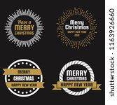 christmas vector logo for... | Shutterstock .eps vector #1163926660