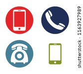 telephone icons   vector... | Shutterstock .eps vector #1163927989