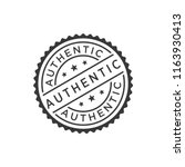 authentic stamp icon vector | Shutterstock .eps vector #1163930413