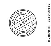 authentic stamp icon vector | Shutterstock .eps vector #1163930563