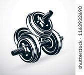 dumbbell vector illustration... | Shutterstock .eps vector #1163932690