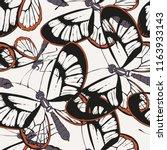 endangered glass butterflies  | Shutterstock .eps vector #1163933143