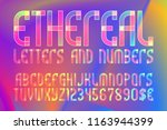ethereal letters and numbers... | Shutterstock .eps vector #1163944399
