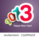 new year s celebration card... | Shutterstock .eps vector #116394610