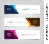 vector abstract web banner... | Shutterstock .eps vector #1163950390