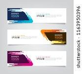 vector abstract web banner... | Shutterstock .eps vector #1163950396