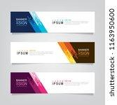 vector abstract web banner... | Shutterstock .eps vector #1163950600
