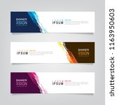 vector abstract web banner... | Shutterstock .eps vector #1163950603