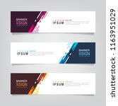 vector abstract web banner... | Shutterstock .eps vector #1163951029