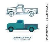 Old Pickup Truck. Vintage Car...