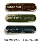 three vector grungy paper... | Shutterstock .eps vector #116396338