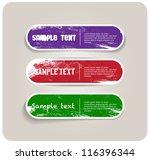 three vector grungy paper... | Shutterstock .eps vector #116396344