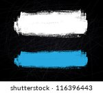 abstract vector brush stroke on ... | Shutterstock .eps vector #116396443