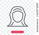 hijab vector icon isolated on...   Shutterstock .eps vector #1163972899