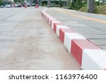 the red and white lines on the... | Shutterstock . vector #1163976400