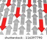red and gray arrows on white... | Shutterstock . vector #116397790