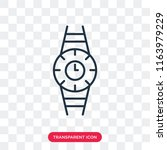 watch vector icon isolated on... | Shutterstock .eps vector #1163979229
