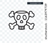 poison vector icon isolated on... | Shutterstock .eps vector #1163979739