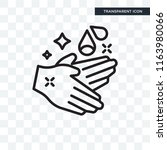 hand wash vector icon isolated... | Shutterstock .eps vector #1163980066