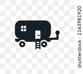 caravan vector icon isolated on ... | Shutterstock .eps vector #1163981920