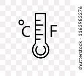 mercury thermometer degrees... | Shutterstock .eps vector #1163983276