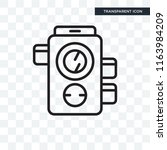 photograph vector icon isolated ... | Shutterstock .eps vector #1163984209