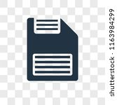 diskette vector icon isolated... | Shutterstock .eps vector #1163984299