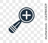 zoom in vector icon isolated on ...   Shutterstock .eps vector #1163984329