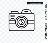 photograph vector icon isolated ... | Shutterstock .eps vector #1163984509