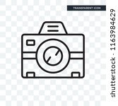 photograph vector icon isolated ... | Shutterstock .eps vector #1163984629