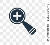 zoom vector icon isolated on...   Shutterstock .eps vector #1163984749