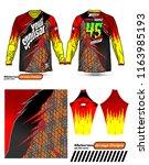 long sleeve motocross jerseys t ... | Shutterstock .eps vector #1163985193