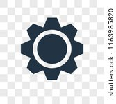 settings vector icon isolated... | Shutterstock .eps vector #1163985820
