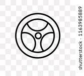 steering wheel vector icon... | Shutterstock .eps vector #1163985889