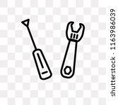 cross wrench vector icon... | Shutterstock .eps vector #1163986039